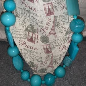Vintage Chunky Blue Necklace